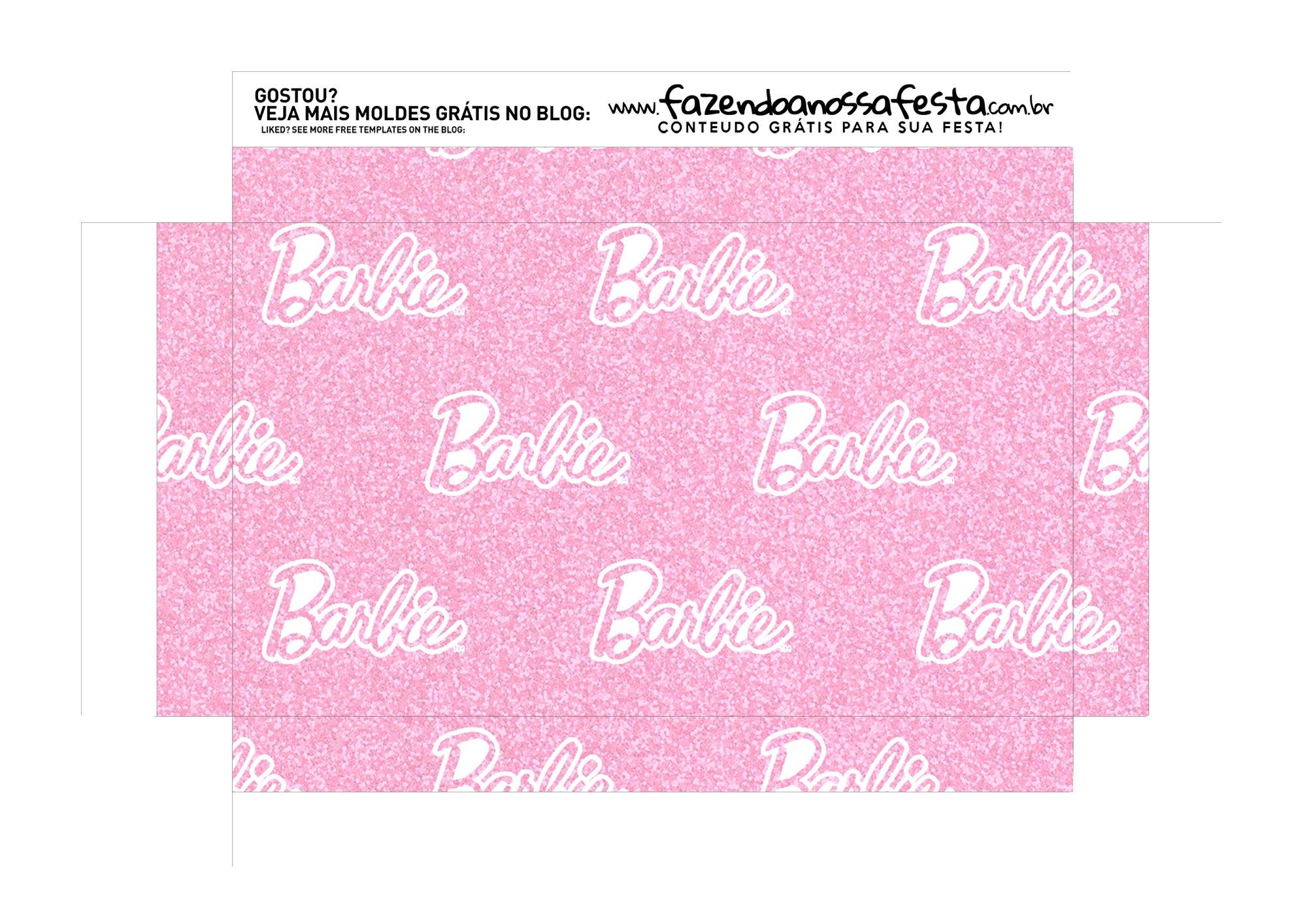 Caixa Explosao Mini Confeiteiro Barbie parte 9