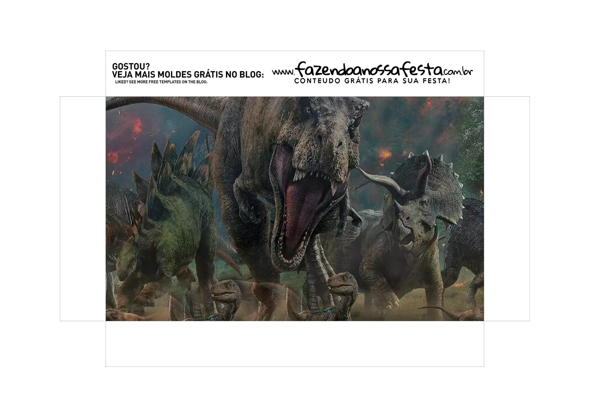 Caixa Explosao Mini Confeiteiro Dinossauro parte 2
