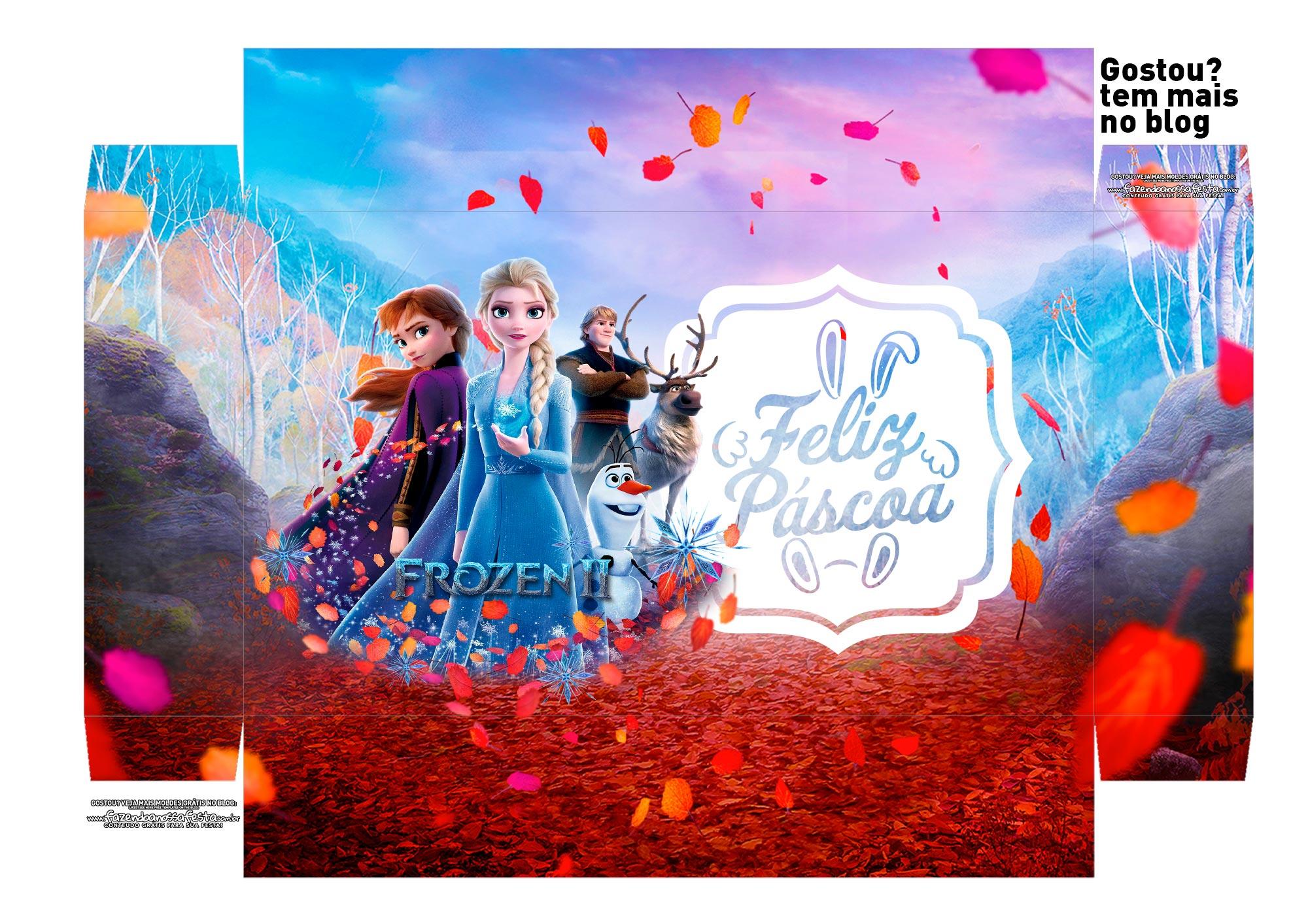 Caixa Explosao Mini Confeiteiro Frozen 2 parte 1