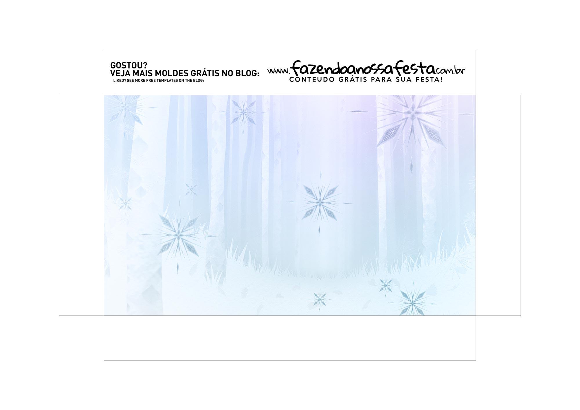Caixa Explosao Mini Confeiteiro Frozen 2 parte 2