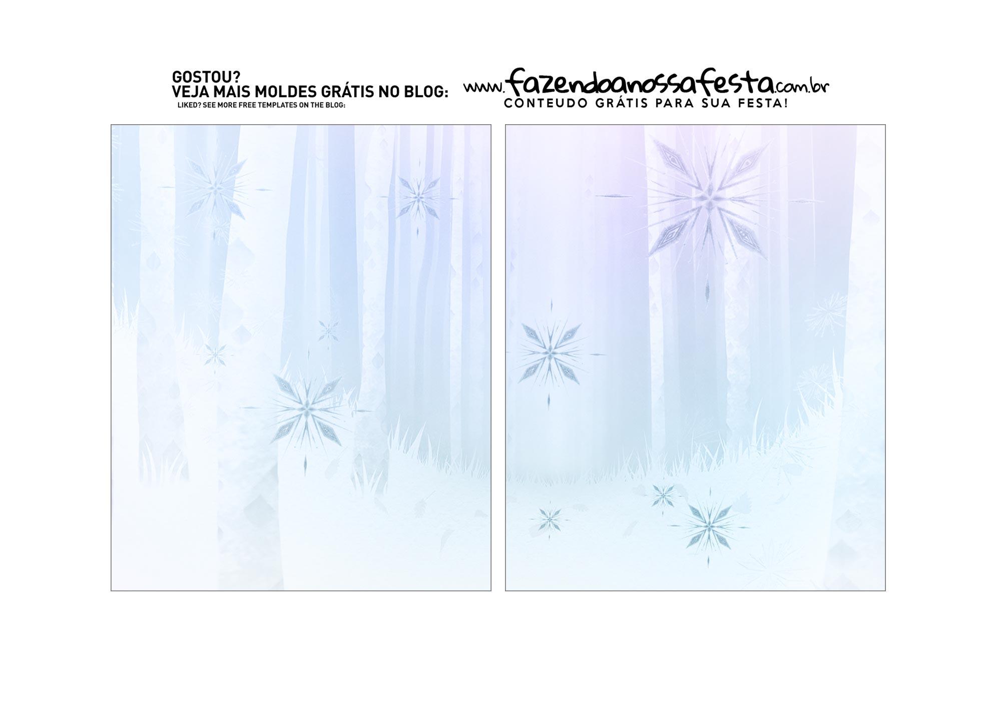 Caixa Explosao Mini Confeiteiro Frozen 2 parte 3