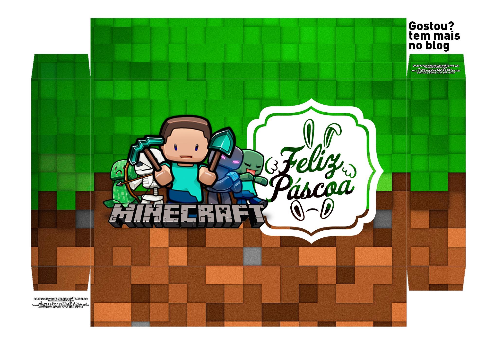 Caixa Explosao Mini Confeiteiro Minecraft parte 1