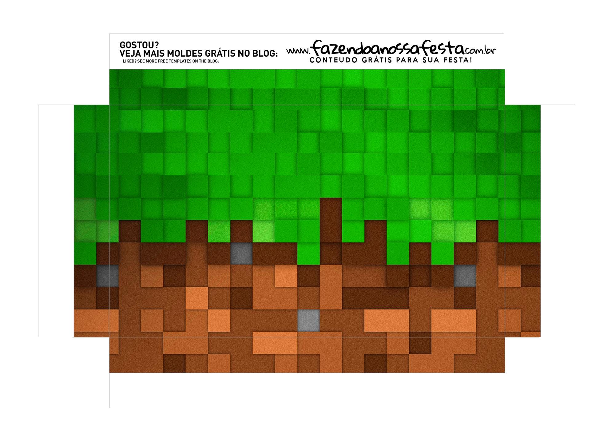 Caixa Explosao Mini Confeiteiro Minecraft parte 9