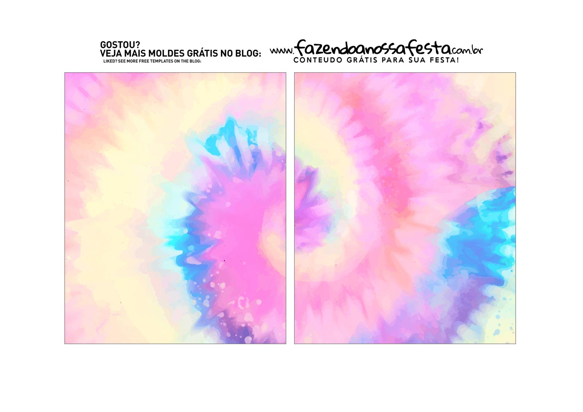 Caixa Explosao Mini Confeiteiro Tie Dye parte 3