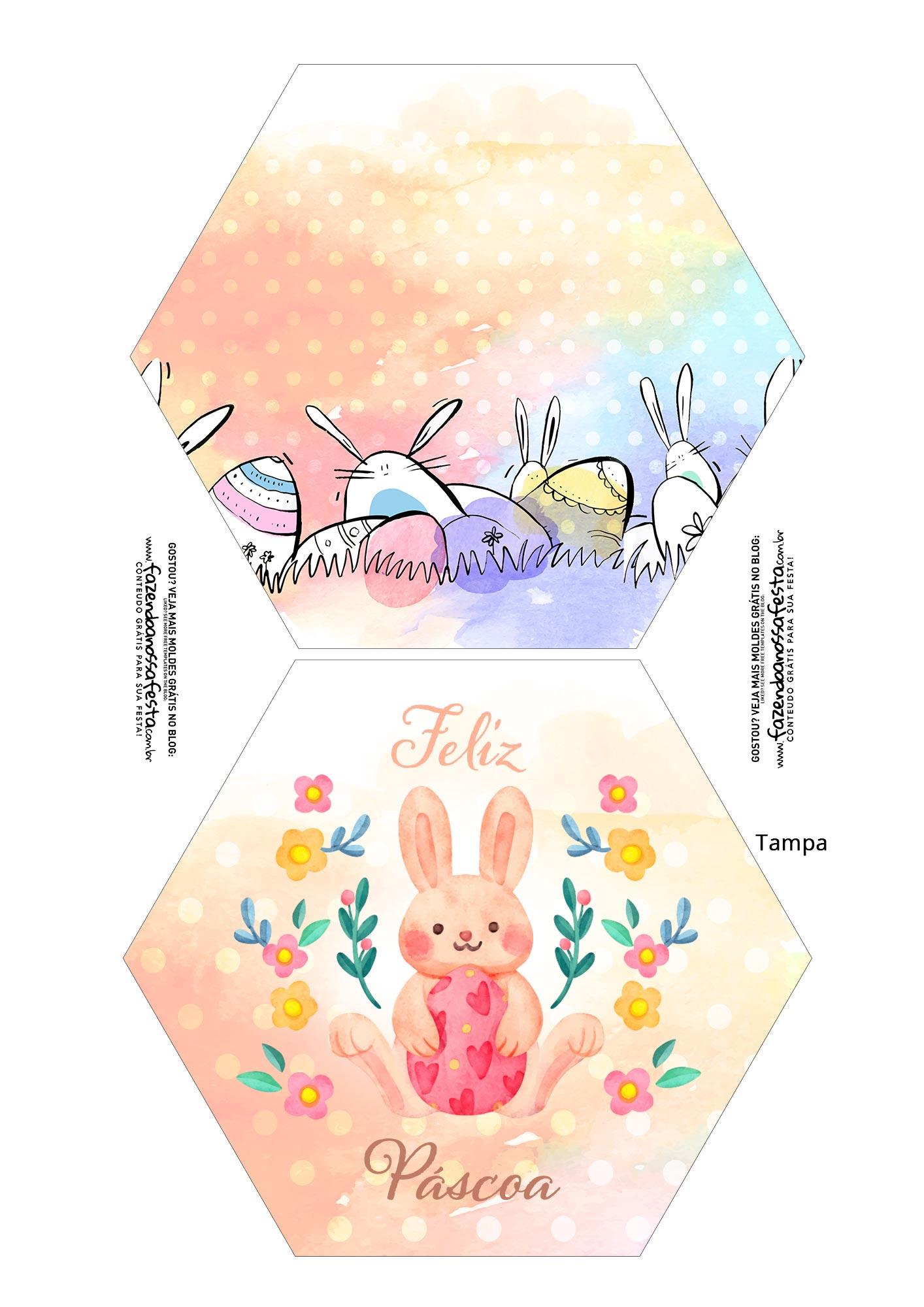 Caixa Explosao Pascoa colorida parte 1