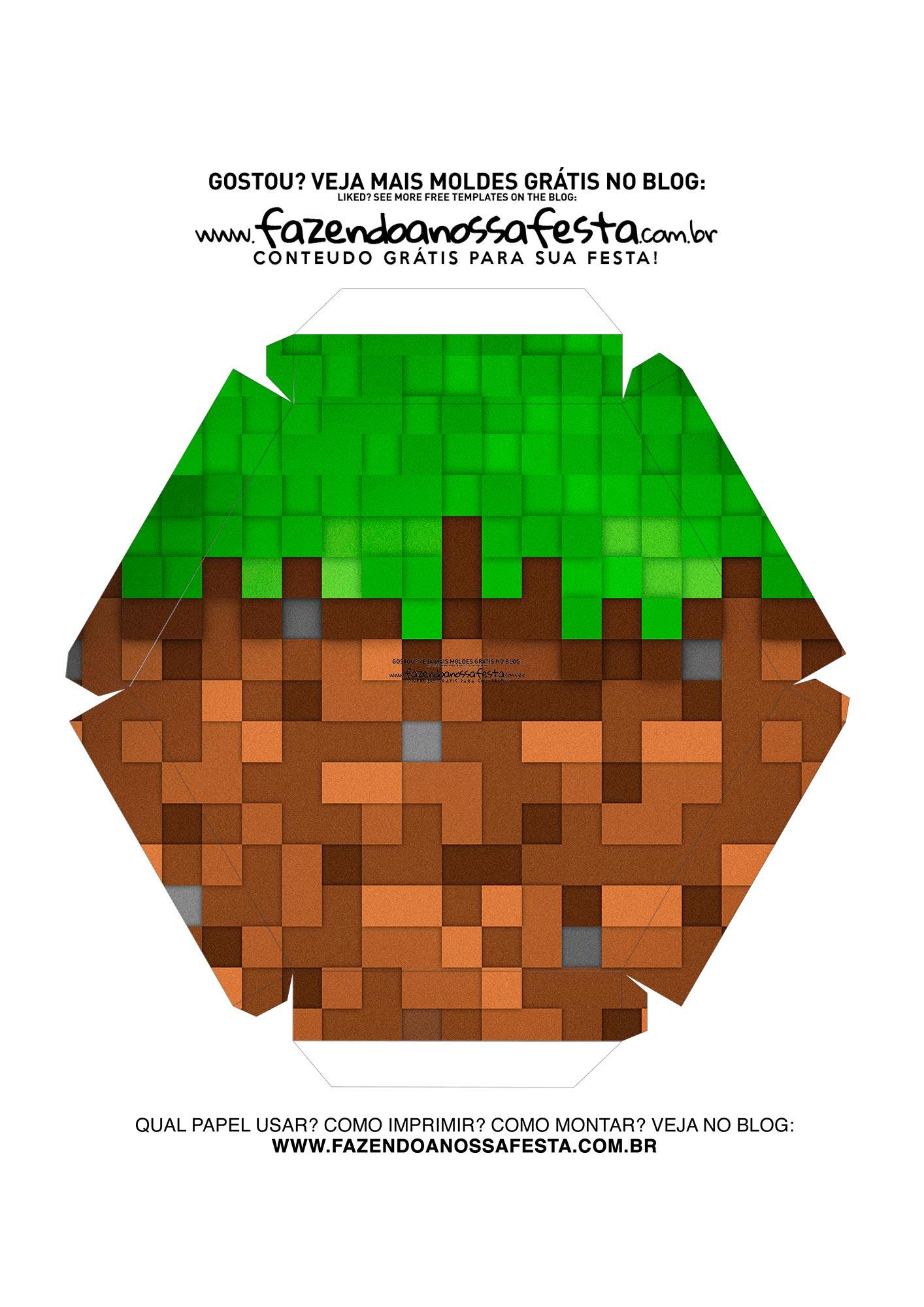 Caixa Explosiva Pascoa Minecraft 10