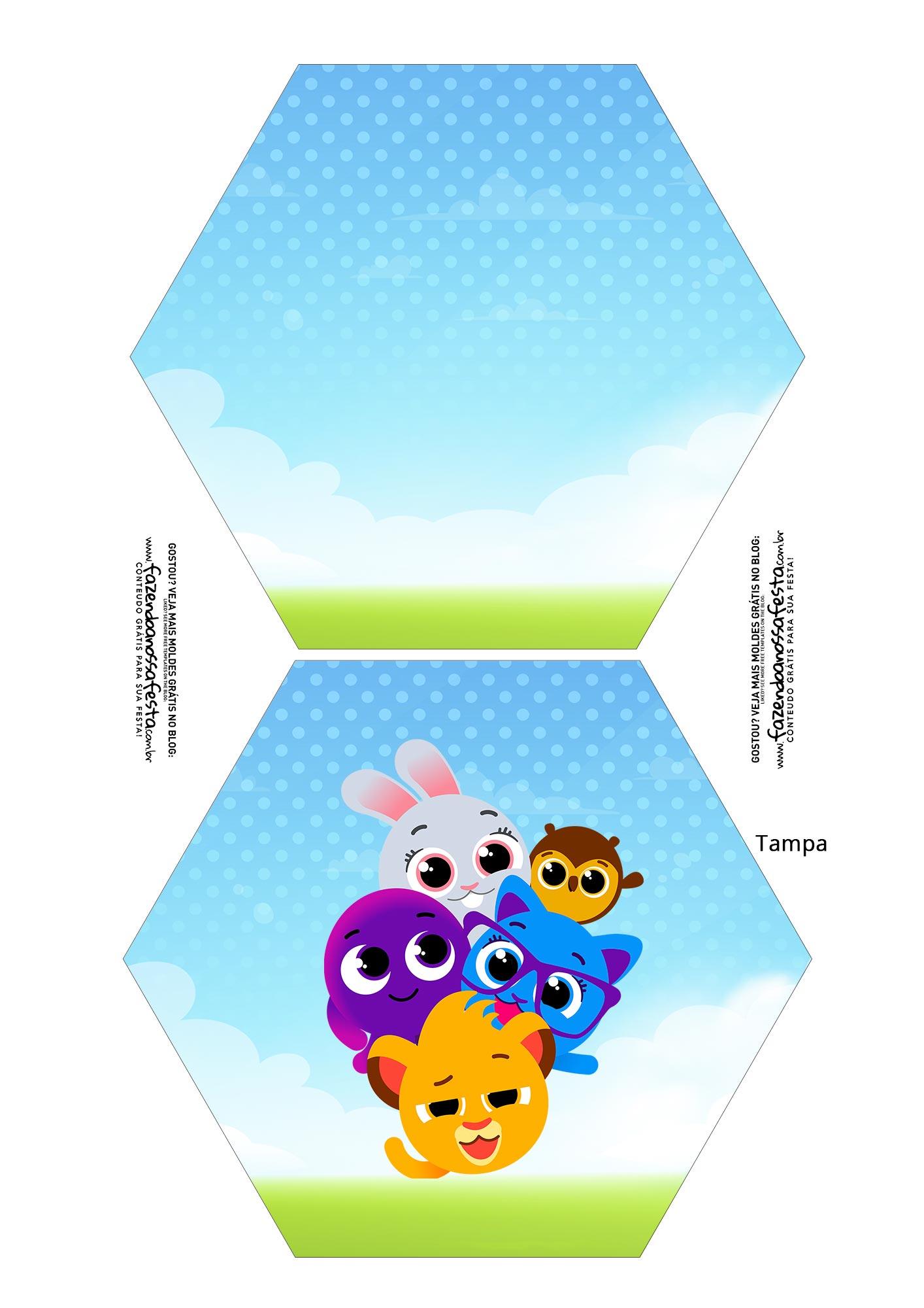 Caixa Explosiva Personagens para Pascoa Bolofofos 1