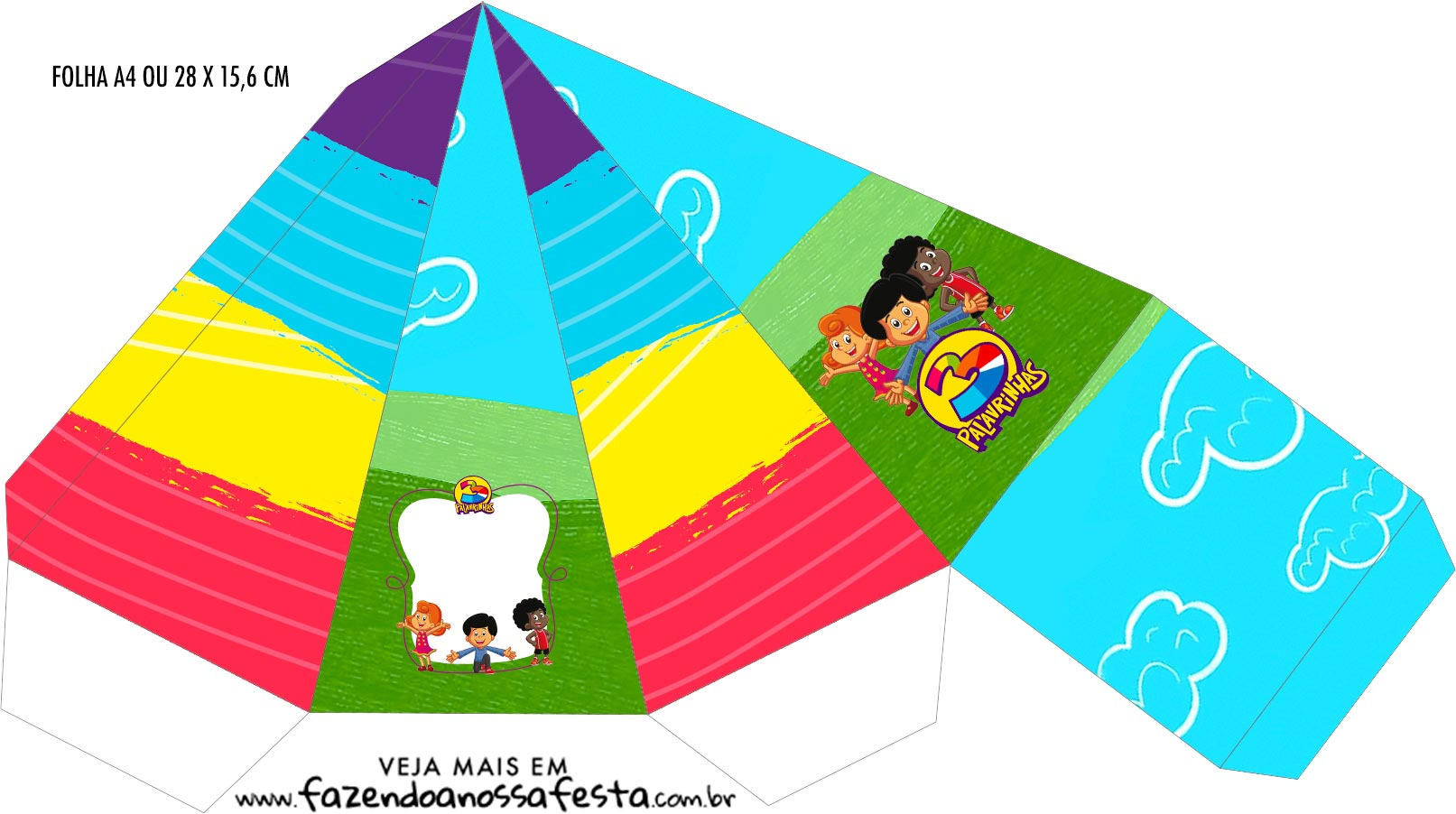 Caixa Piramide 3 Palavrinhas