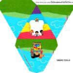 Caixa Piramide Personalizada 3 Palavrinhas