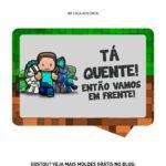 Kit Caca aos Ovos Minecraft plaquinha ta quente