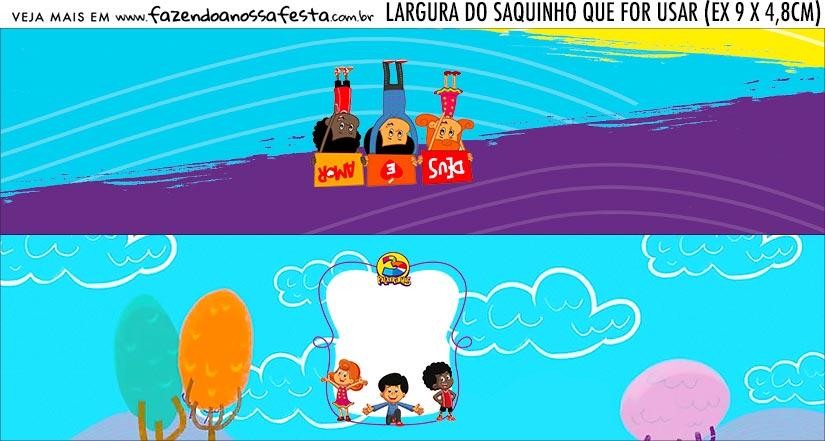 Rotulo Saquinho de Bala Kit Festa 3 Palavrinhas