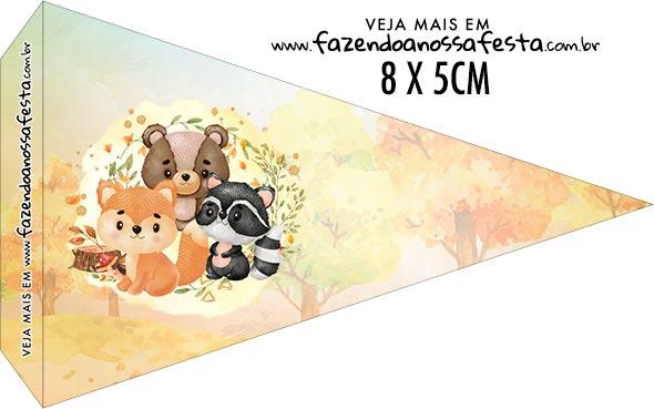 Bandeirinha Sanduiche para imprimir Bosque Encantado Laranja