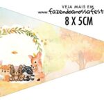 Bandeirinha sanduiche Bosque Encantado Laranja