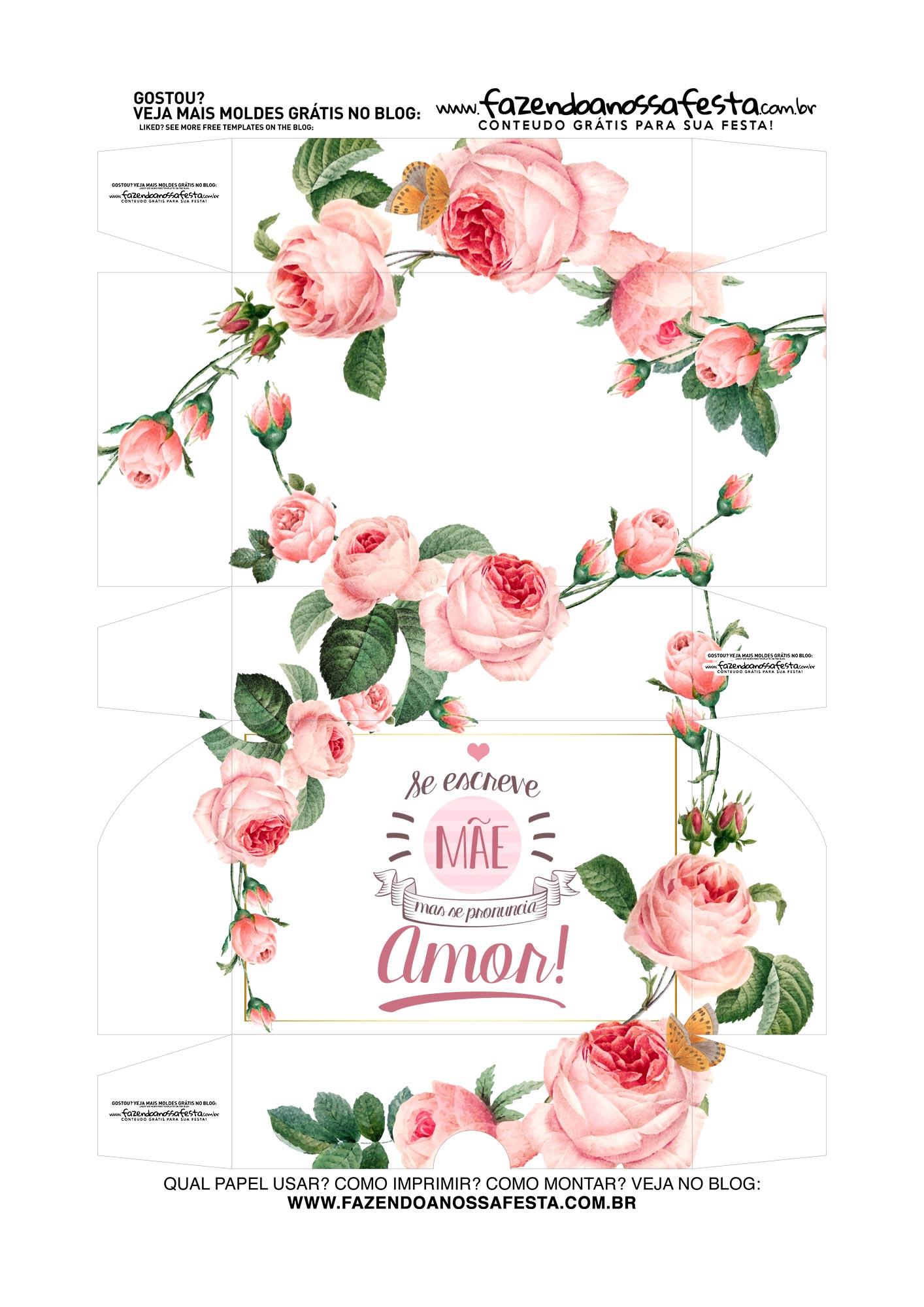 Caixa Brigadeiro Dia das Maes Amor