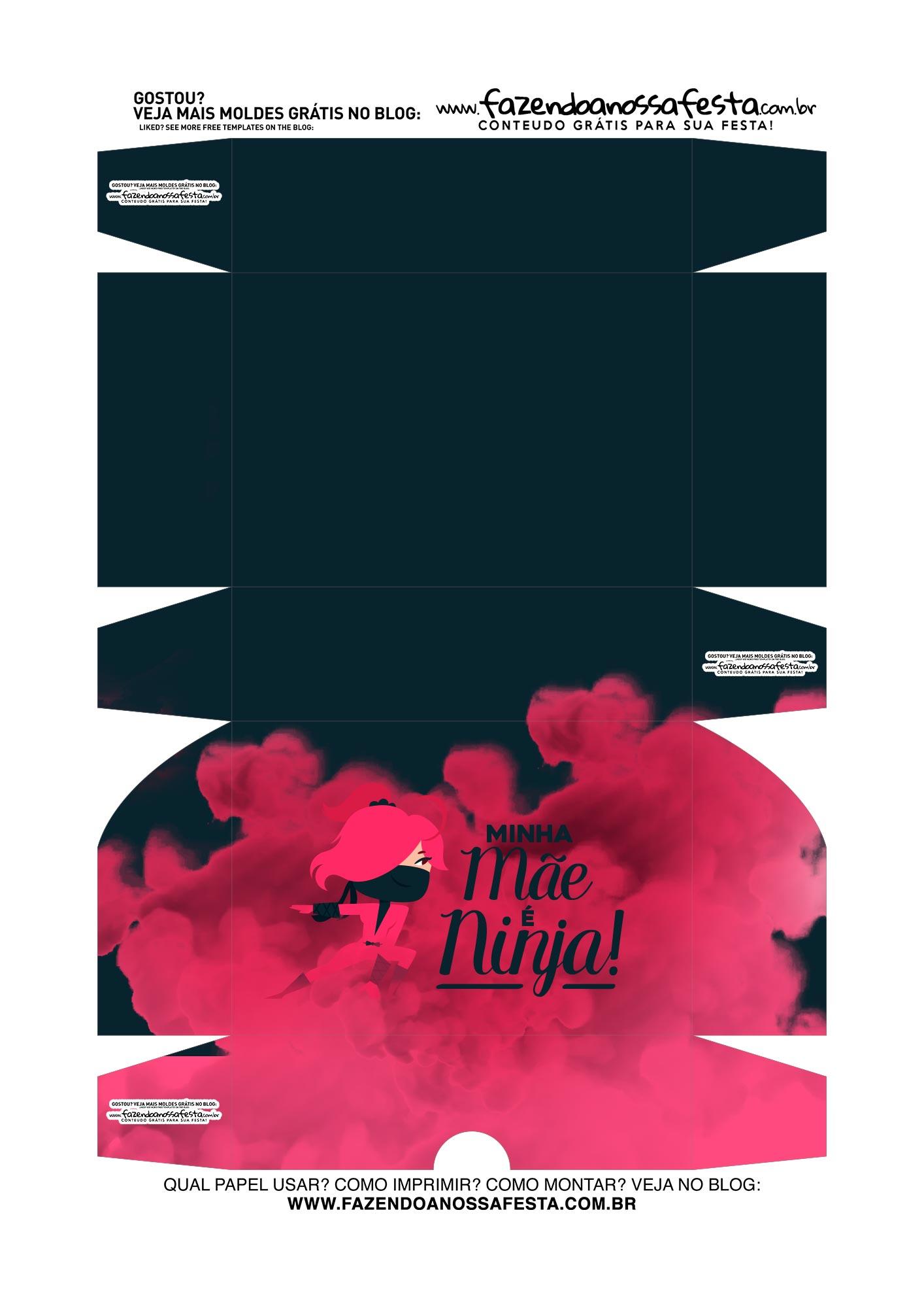 Caixa Brigadeiro Dia das Maes Ninja