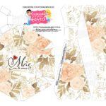 Caixa Buque Mae Floral Bege parte 2