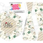 Caixa Buque Floral Cinza parte 2