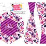 Caixa Buque Floral Roxo escuro parte 2
