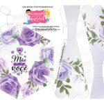 Caixa Buque Floral Roxo parte 2