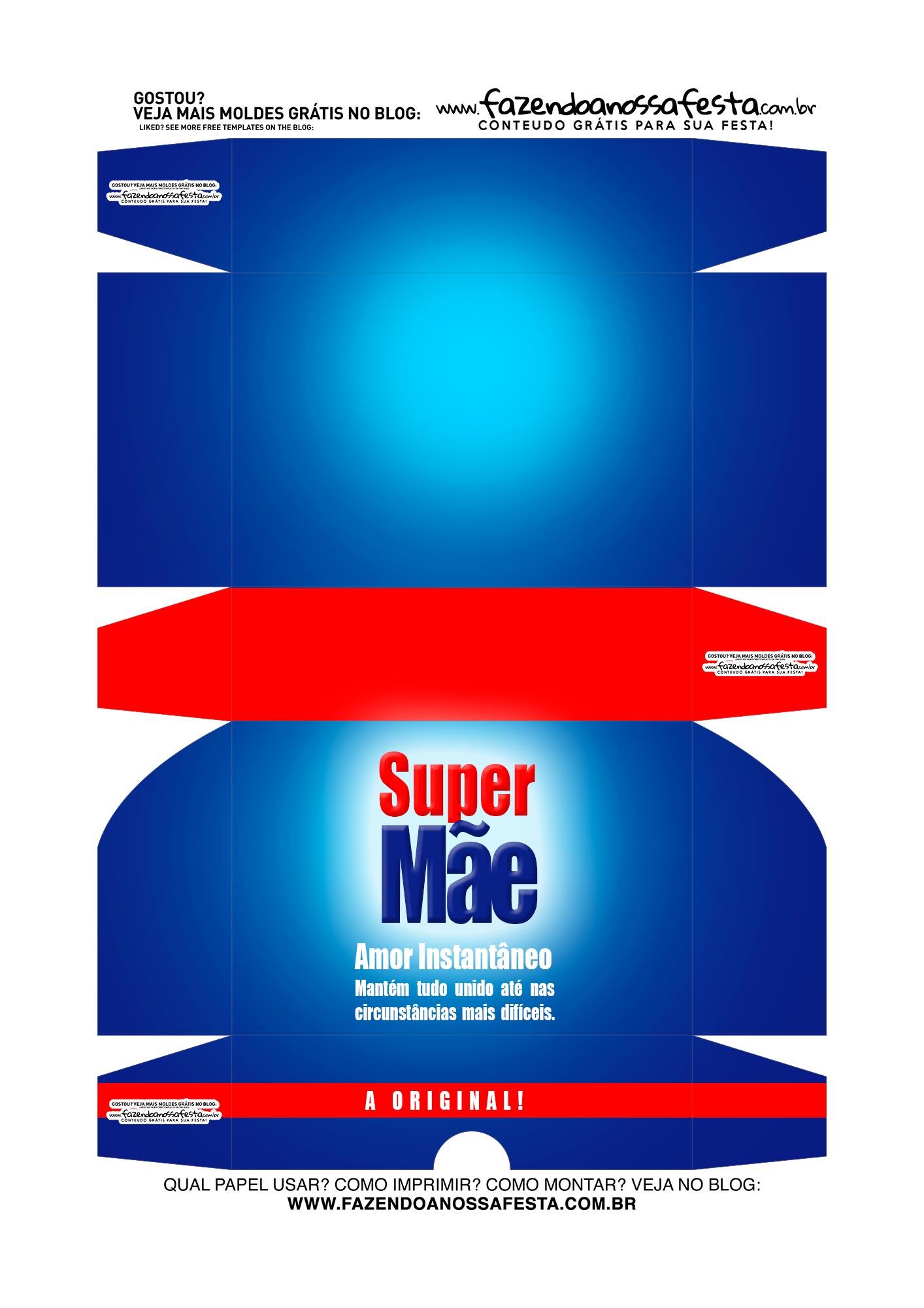 Caixa Doce Gourmet Super Mae