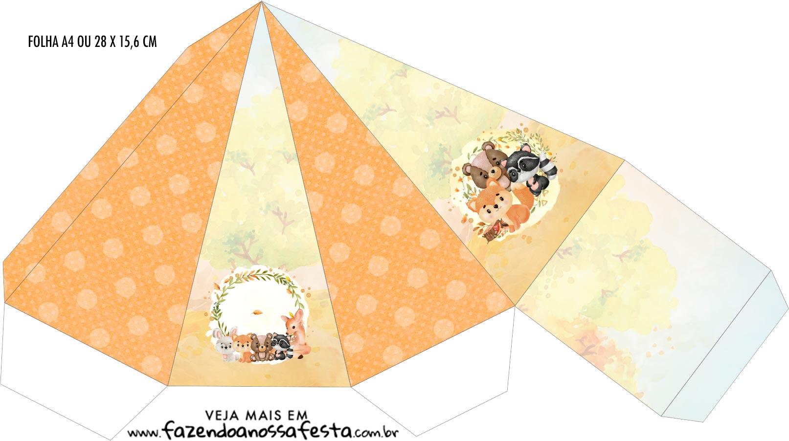 Caixa Piramide Bosque Encantado Laranja