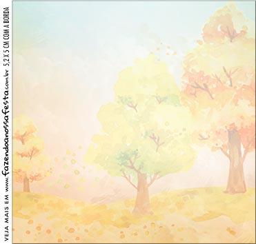 Caixinha Acrilico Bosque Encantado Laranja