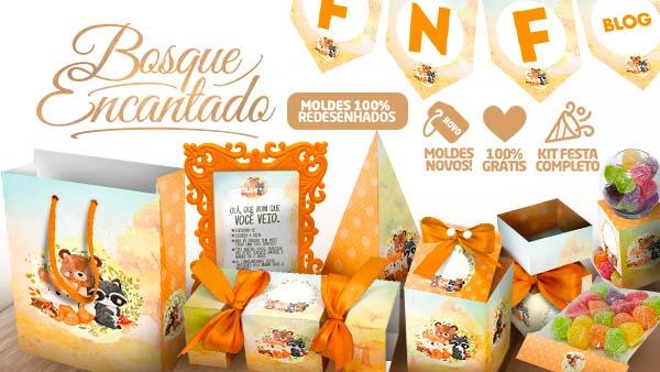 Kit Festa Bosque Encantado Laranja 2