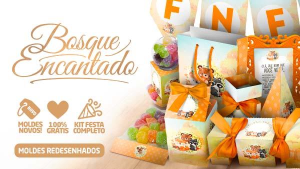Kit Festa Bosque Encantado Laranja