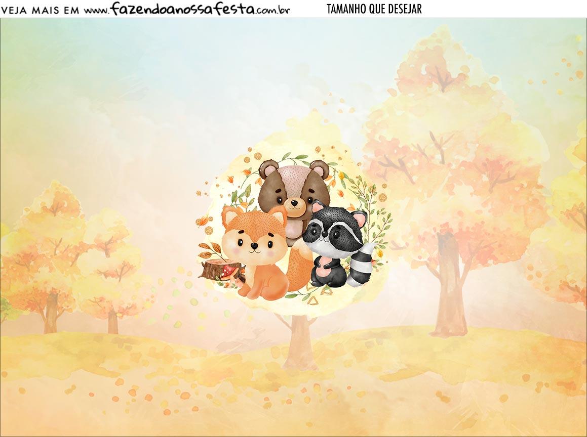 Personalizado Bosque Encantado Laranja