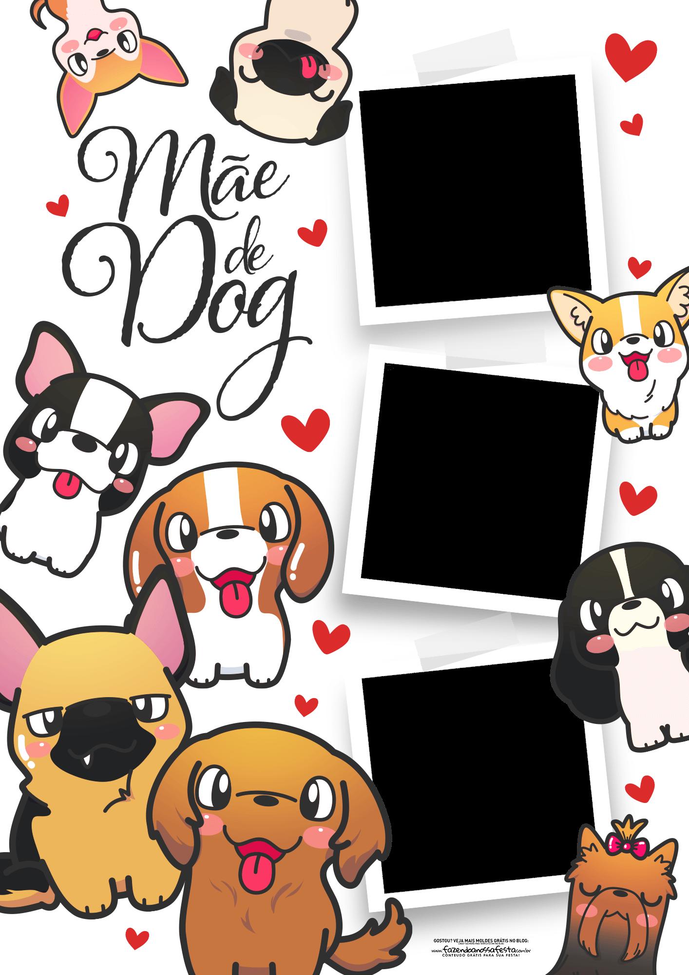 Quadro Dia das Maes Personalizado Mae de dog