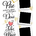 Quadro Dia das Maes Personalizado Pae