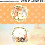 Rotulo Saquinho de Bala Bosque Encantado Laranja