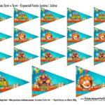 Bandeirolas 5 cm Kit Festa Junina do Bita