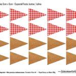 Bandeirolas 5 cm Kit Festa Junina do Bita 2