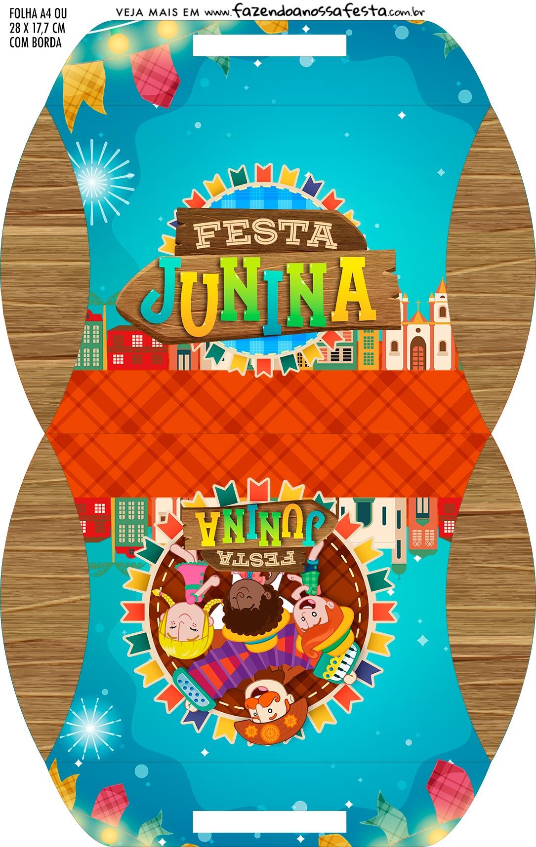 Caixa Almofada bolsinha Kit Festa Sao Joao do Bita