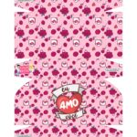 Caixa Brigadeiro Dia dos Namorados Rosa Coracao