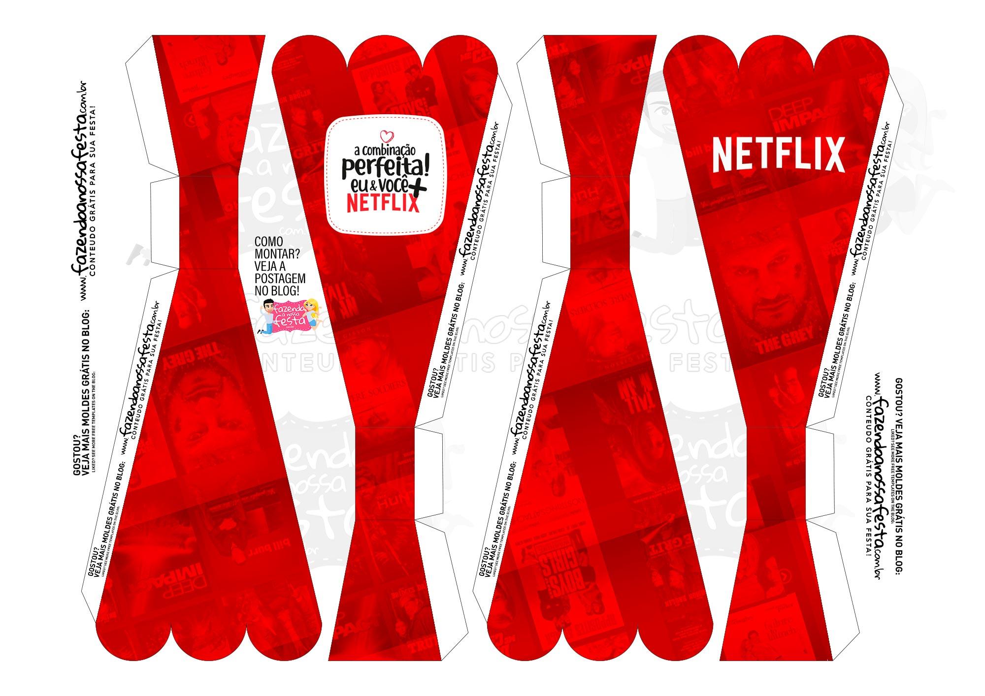 Caixa Buque Dia dos Namorados Netflix