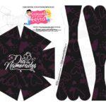 Caixa Buque Dia dos Namorados Preto e Rosa 2