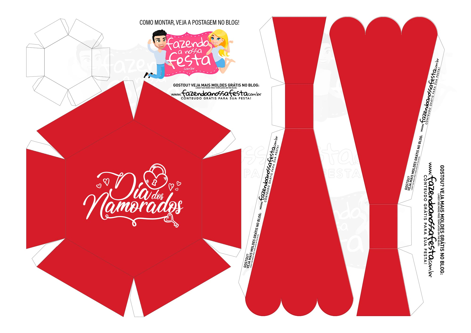 Caixa Buque Vermelha Casal 2