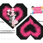 Caixa Coracao Casal apaixonado preto e rosa