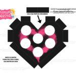 Caixa Coracao Casal apaixonado preto e rosa 3