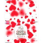 Caixa para 6 doces Dia dos Namorados Coracoes