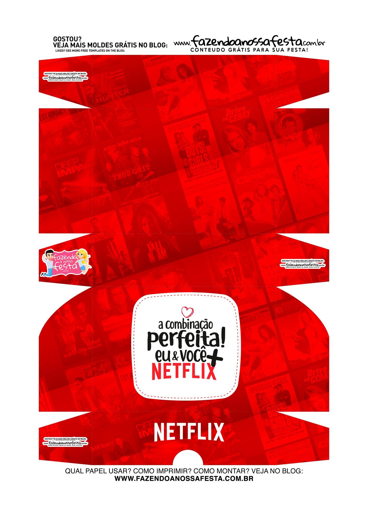 Caixa para 6 doces Dia dos Namorados Netflix