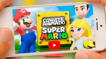 Convite Animado Super Mario Bros