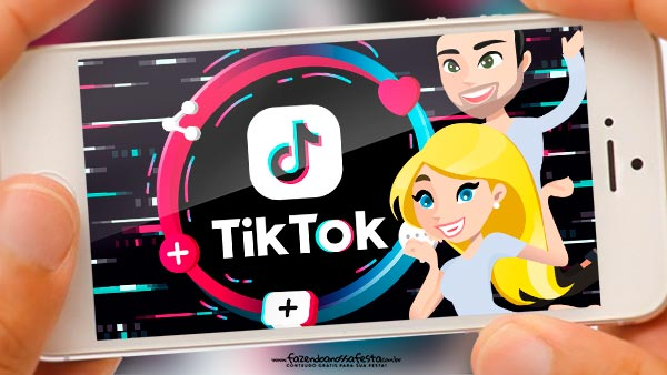 Convite Animado Tik Tok gratis
