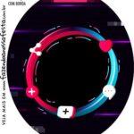 Rotulo Oval Tik Tok