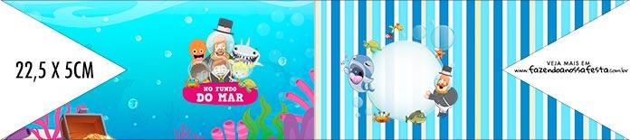 Bandeirinha de Dois Lados Bita no Fundo do Mar