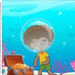 Caixa Acrilico 5x5 Bita no Fundo do Mar