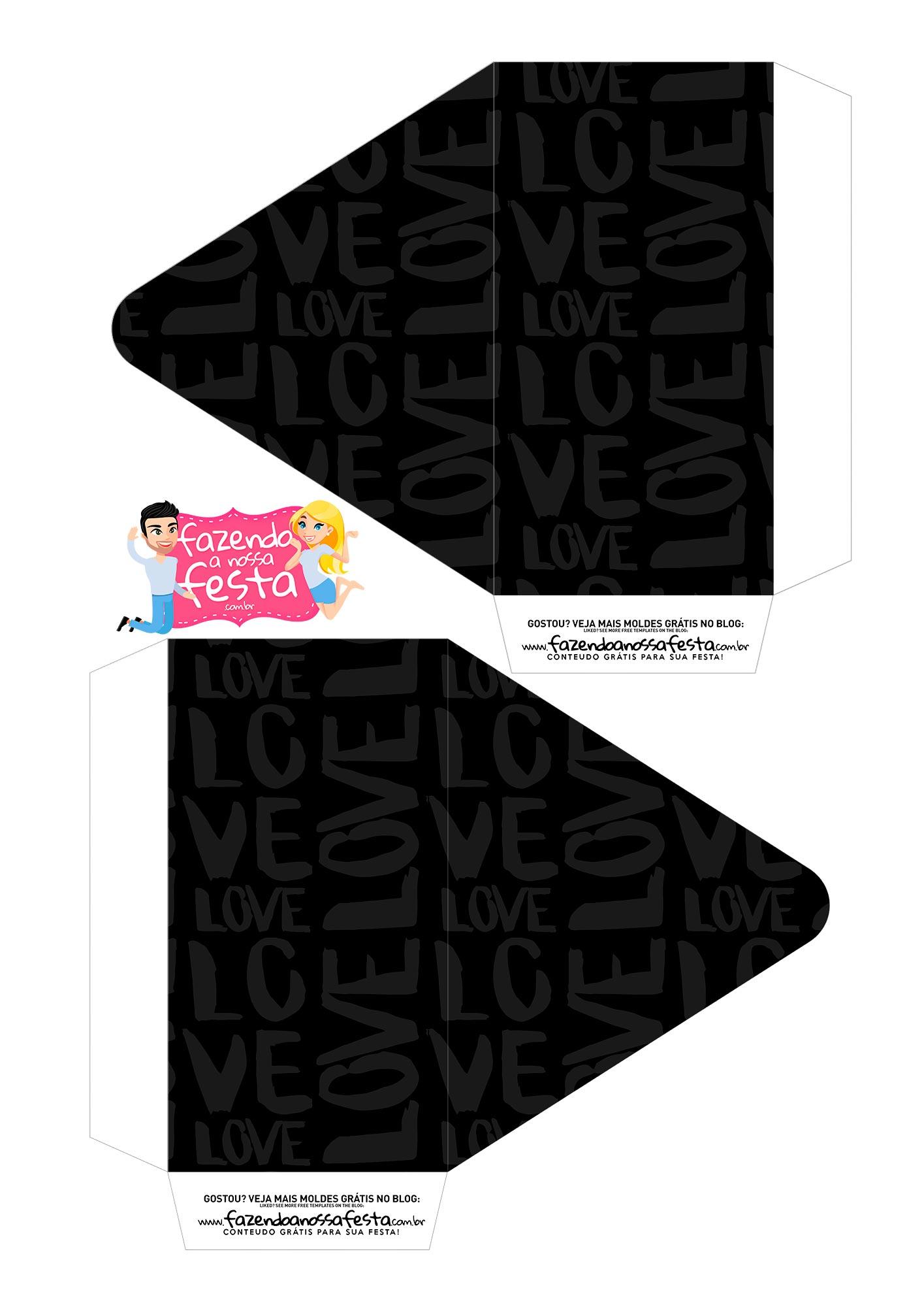 Caixa Envelope Casal Pink e Preto 1