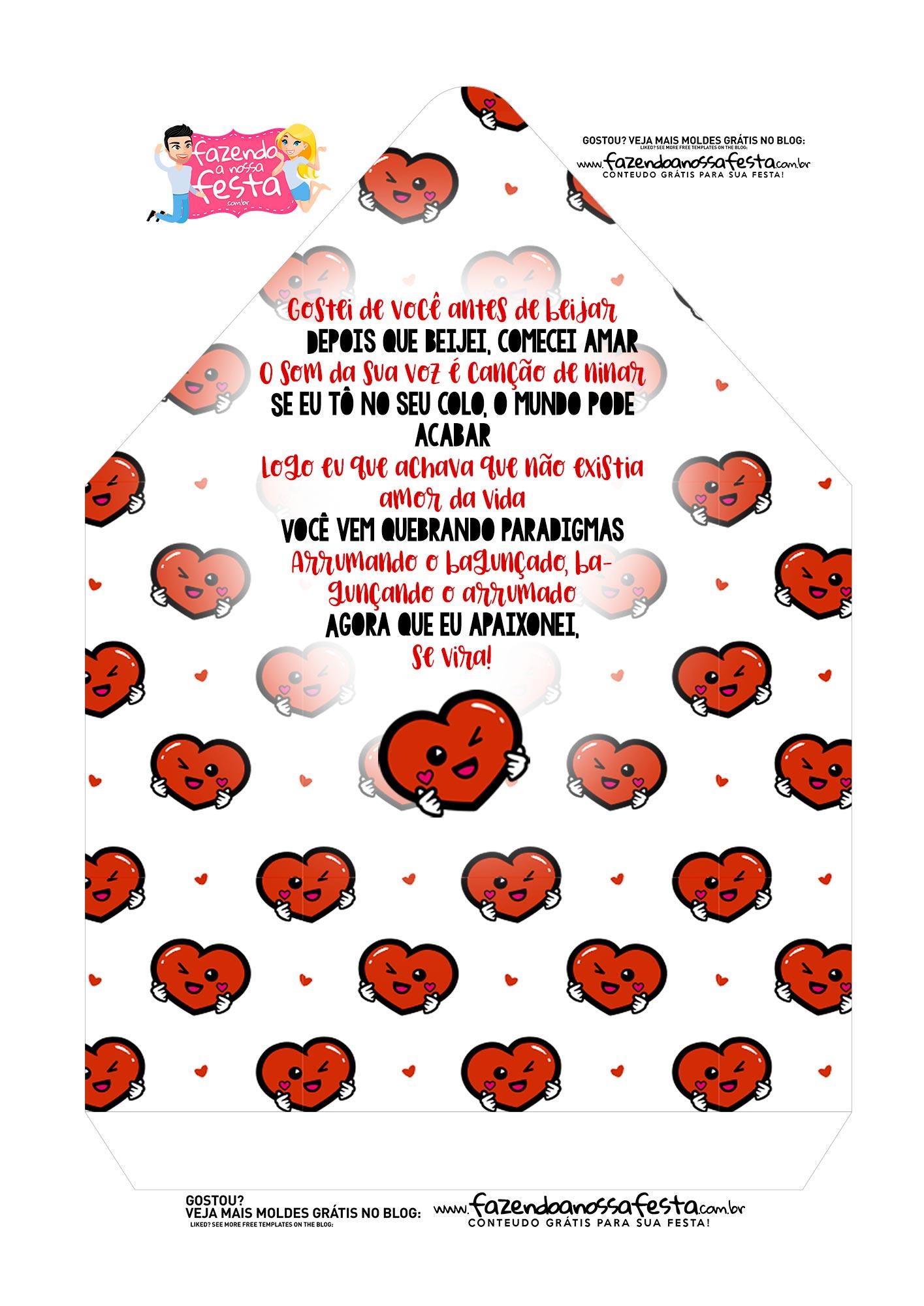 Caixa Envelope Dia dos Namorados Paradigmas 2